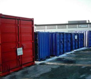 Container i olika dimensioner.